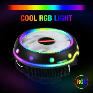LED RGB CPU Cooler Fan Heatsink For Intel LGA 1156/1155/1151/1150 AMD AM4 / AM3+