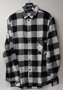 Polaris Black & White Checked Mens Shirt Size M & L