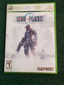 Xbox 360 Lost Planet Extreme Condition Video Game Disc Case Manual Pre-Owned