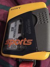 SONY WM-ES392 Sports WALKMAN Mega Bass Cassette Player Rare+strap