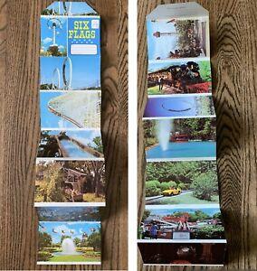 *RARE* 1980 Six Flags Over Texas Amusement Park Brochure Souvenir Postcard Book!