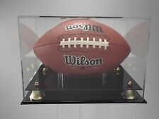 New England Patriot Football display case full size NFL collectible UV