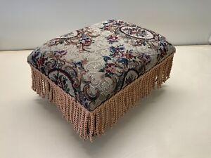Fridge Tapestry fabric foot stool