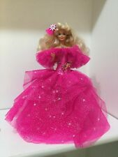 Vintage 1976 Barbie Doll Blonde w/Pink Long Dress Mattel