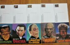 #Ux285-Ux289 Complete Set Classic Movie Monsters 5 Frankenstein Dracula Wolf Man