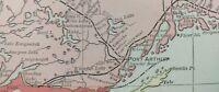 "NORTHWEST ONTARIO CANADA 1900 Vintage Atlas Map 22""x14"" Old Antique PORT ARTHUR"