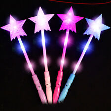 Battery-powered Star LED Light Sticks Girls Toy Flashing Party Festivals Decor
