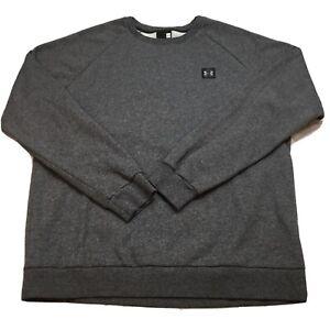 Under Armour Men's XL Cold Gear Sweat Shirt Charcoal Gray Crew Top Long #1320738