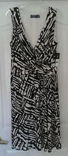 WOMANS AMERICAN LIVING SHEATH DRESS NEW WITH TAGS SIZE 14 - BLACK & WHITE PRINT