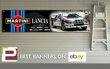 Martini Lancia Rally 037 Garage Banner for Workshop, Garage, Retro, Pininfarina