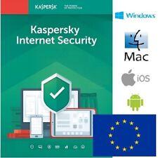 Kaspersky Internet Security 2021 1 año 1, 2, 3, 4, 5, 10 dispositivos OFICIAL