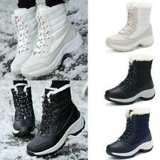 Damen Winter Wasserdicht Schneeschuhe Warm Stiefel Stiefeletten Flache Boots EU^