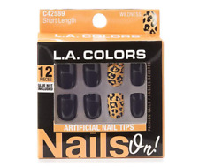 NEW L.A. COLORS NAILS ON! ARTIFICIAL NAIL TIPS - SHORT LENGTH - WILDNESS C42589