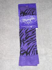 1 Pair - Wrangler Zebra Boot Socks - #9644 - Purple - Medium - Fits 9-11