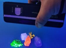 ULTRAVIOLET SHORTWAVE LONGWAVE UV LIGHT & FLUORESCENT CALCITE SPECIMEN KIT CON3