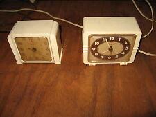 Vintage GE General Electric Clock Wood Art Deco Mid Century