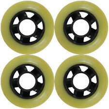 Inline Skate Rollerblade Wheel 72mm 80a Outdoor Yellow/Black 5-Spoke Hub set of