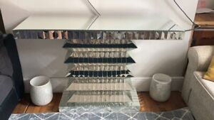 Glass Mirrored Wall Table