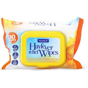 Nuage Hayfever Relief Wipes Removes Traps Pollen Pet Allergens Children 30 Wipes
