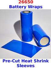 10 X 26650 Battery Wraps - PreCut Heat Shrink Sleeves To Fit 26650 Batteries