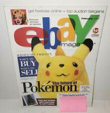 EBAY MAGAZINE FEBRUARY 2000 POKEMON PIKACHU INTERNET AUCTION  KATHY IRELAND