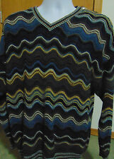Tundra Coogie/Cosby style multi colored Hipster Pullover Sweater Large