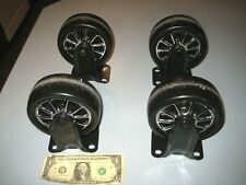 Set Of 4 Custom Rim Cart Dolly Wheels Casters 5 Inchdiameter