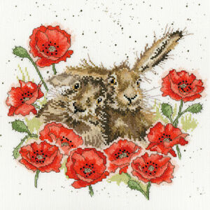 Bothy Threads ~ Counted Cross Stitch Kit ~ Love is in the Hare ~ XHD61