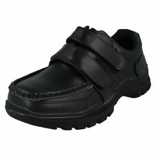 Chaussures habillées noirs avec attache auto-agrippant pour garçon de 2 à 16 ans