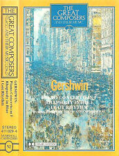 Gershwin ‎Piano Concerto  Rhapsody Got Rhythm CASSETTE ALBUM GREAT COMPOSERS 52