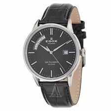 Edox Les Vauberts Day Date Automatic Men's Automatic Watch 83007-3-NIN NIB