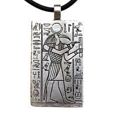 Thoth Egyptian Moon Deity The God of Knowledge Pewter Pendant W Black PVC Cord