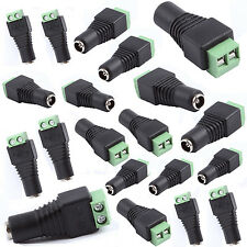 20pcs 2.1 x 5.5mm Dc Power Female Plug Jack Adapter Connector for Cctv Camera