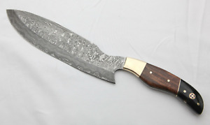 Virgo Hand Made Damascus Chef Knife 14.00 inches, Beautiful Handle