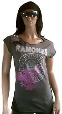 ELEGANTLY WAISTED by AMPLIFIED RAMONES Hey Ho Let's Go Rock Star Strass Shirt L