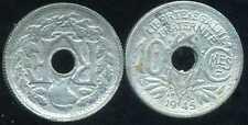 10 CENTIMES ZINC 1945 B