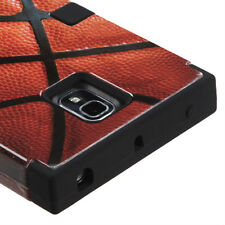 For LG Spectrum 2 VS930 IMPACT TUFF HYBRID Case Layered Phone Cover Basketball