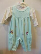 Girls baby 12 mo 2 pc outfit winnie the pooh piglet snowflakes long sleeve