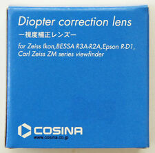 GENUINE Cosina Diopter Correction Lens +2 for Zeiss Ikon, BESSA R3A-R2A, R-D1