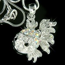 ~Goldfish~ made with Swarovski Crystal Aquarium gold fish Charm Necklace Jewelry