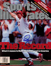 Mark McGwire Cardinals SIGNED Sports Illustrated NL COA