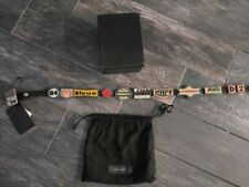 Dsquared2 Graphic logo Metal Plates Leather Belt Size Small