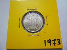 C: Malaysia 10 sen coin 1973 - UNC