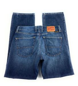 Lucky Brand Men's 221 Slim Straight Button Fly Distressed Blue Jeans 32x31