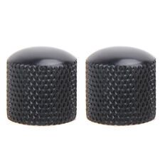 Black Volume Knobs Cap For Electric Guitar Bass Dome Tone Control Parts Metal