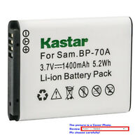 Kastar Replacement Battery for Samsung BP-70A & Samsung TL205 WB30F Camera