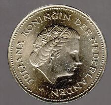 """10 Gulden 25jährige Befreiung """"Königin Juliana"""" 1970 in unzirkuliert/prägefrisch"""