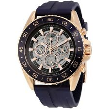 Michael Kors Men's Automatic JetMaster Navy Silicone Strap Watch 45mm MK9025