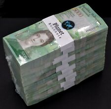 2017 Venezuela $5,000 Bolivares Rare UNC. Consecutive Packs 1000 Pcs. New SKU517