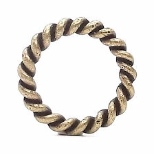 "Rope Border Antique Brass Ring 1"" (2.5 cm) 1176-09"